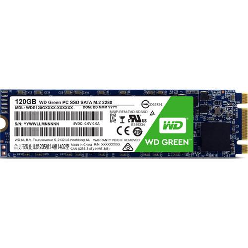 ウエスタンデジタル WDS120G1G0B [WD Green SSD(120GB M.2(2280) SATA 6G 3年保証)]