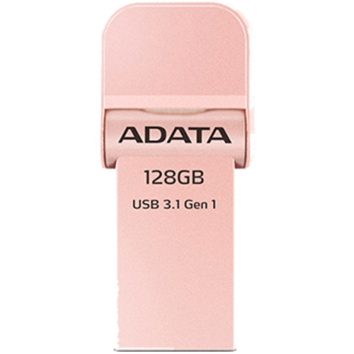 ADATA AAI920-128G-CRG [128GB Lightning&USB3.1 フラッシュドライブ i-Memory AI920 ローズゴールド]