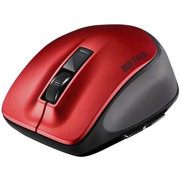 バッファローコクヨサプライ BSMBB500MRD [Bluetooth BlueLED プレミアムフィットマウス M レッド]