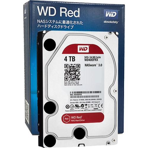 WD40EFRX-RT2 [WD Red(4TB 3.5インチ SATA 6G 5400rpm 64MB 1.33TBプラッタ)]