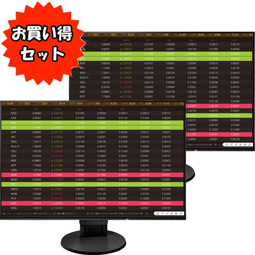 ★お得な2台セット★EV2456-RBK [61cm(24.1型)カラー液晶モニター FlexScan ブラック]