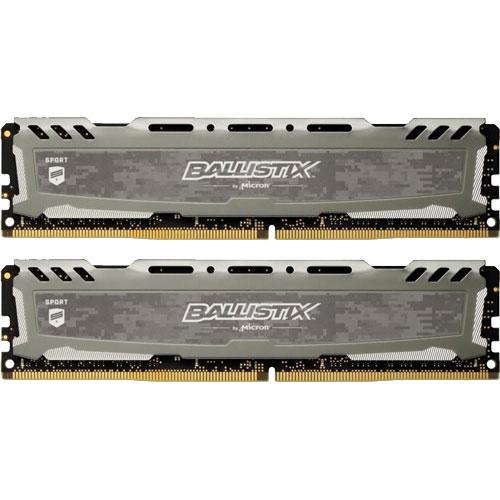 クルーシャル BLS2K8G4D26BFSBK [Ballistix Sport LT 16GB Kit (8GBx2) DDR4 2666 (PC4-21300) CL16 SR x8 UDIMM 288pin]