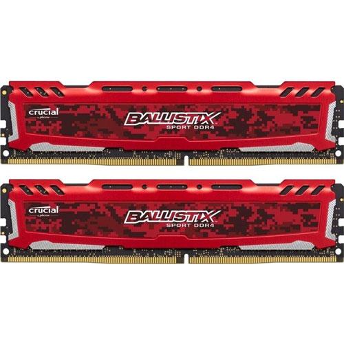 クルーシャル BLS2K4G4D26BFSE [Ballistix Sport LT 8GB Kit (4GBx2) DDR4 2666 (PC4-21300) CL16 SR x8 UDIMM 288pin]