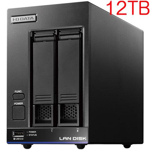 アイオーデータ HDL2-X12 [高性能CPU&「WD Red」搭載 2ドライブNAS 12TB]
