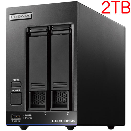アイオーデータ HDL2-X2 [高性能CPU&「WD Red」搭載 2ドライブNAS 2TB]
