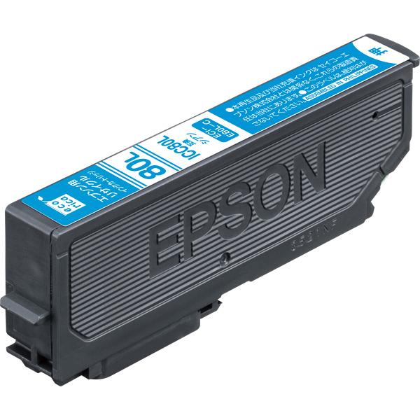 エレコム ECI-E80L-C [エコリカ リサイクルインク/EPSON/ICC80L互換/シアン]