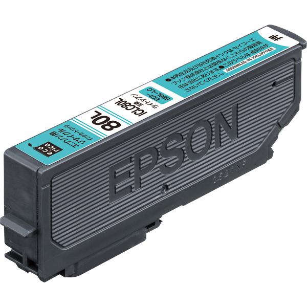 エレコム ECI-E80L-LC [エコリカ リサイクルインク/EPSON/ICLC80L互換/ライトシアン]