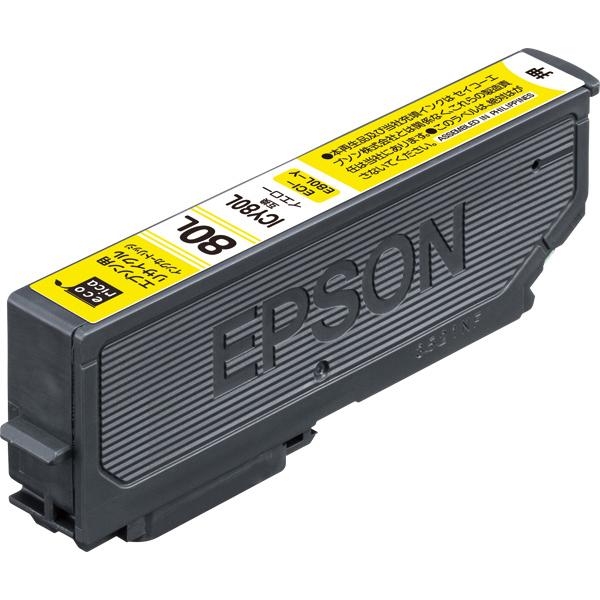 エレコム ECI-E80L-Y [エコリカ リサイクルインク/EPSON/ICY80L互換/イエロー]