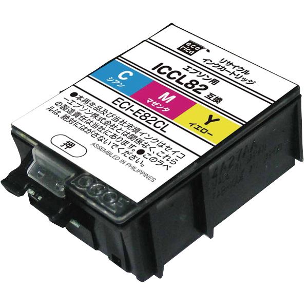 エレコム ECI-E82CL [エコリカ リサイクルインク/EPSON/ICCL82互換/カラー]