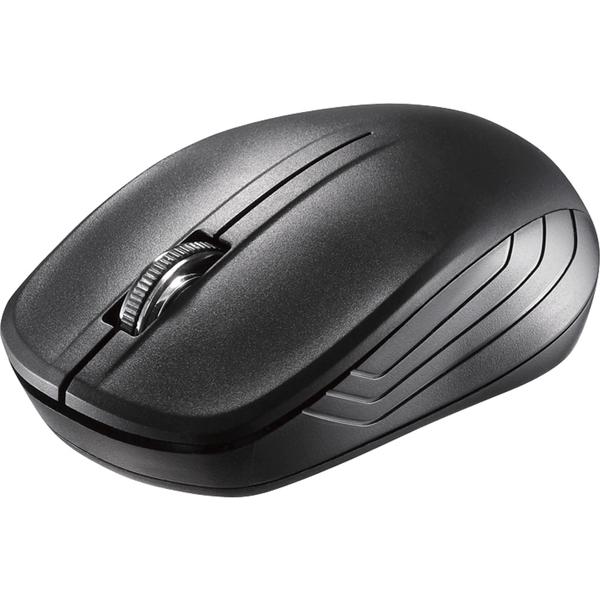 バッファローコクヨサプライ BSMRW21BKZ [無線IR LEDマウス 3ボタン 簡易パッケージ ブラック]