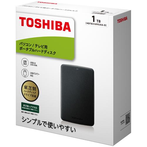 東芝 東芝ポータブルHDD HDTB310FK3AA-D [ポータブルHDD 1TB ブラック]