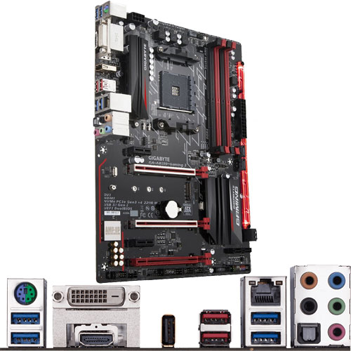 ギガバイト GA-AB350-Gaming 3 [マザーボード AMD B350/Socket AM4/DDR4/USB 3.1 Type-C/ATX]