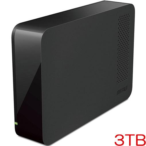 バッファロー DriveStation HD-LL3.0U3-BKF [USB3.1用 AV向けドライブ 外付HDD 3TB ブラック]