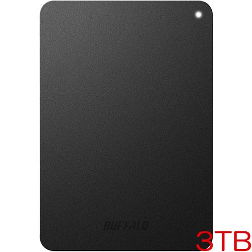 バッファロー MiniStation HD-PNF3.0U3-GBE [耐衝撃 USB3.1用 ポータブルHDD 3TB ブラック]