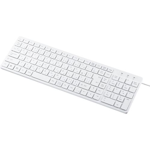 サンワサプライ SKB-SL26W [USBスリムキーボード(ホワイト)]