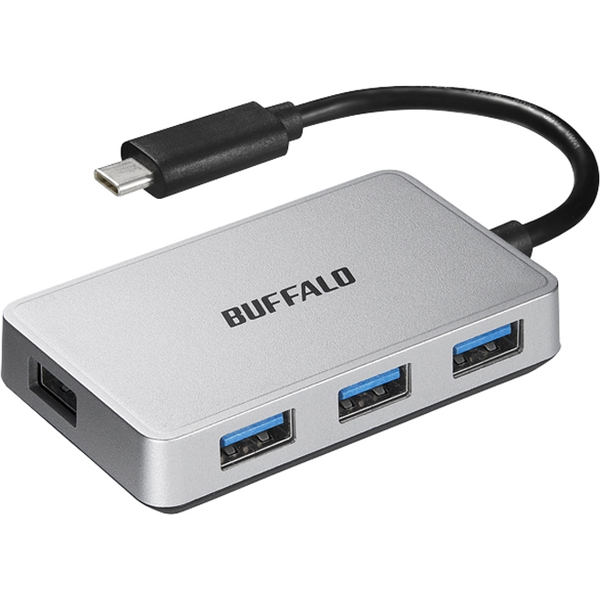 BSH4U100C1SV [USB3.1 Gen1 TypeC 4ポートバスパワーハブ シルバー]