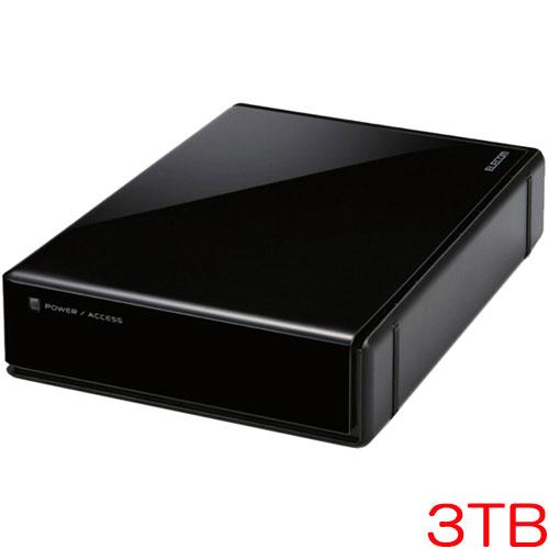 エレコム ELD-EEN030UBK [USB3.0外付HDD/HW暗号化/PW保護/3TB]