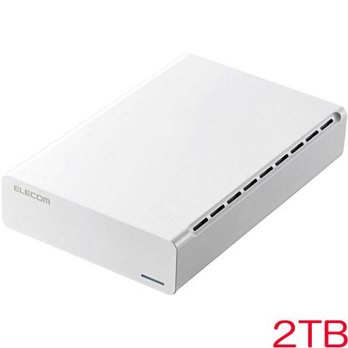 エレコム ELD-ERH020UWH [外付HDD/USB3.0/2TB/White/ひかりTVモデル]