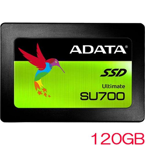 ADATA ASU700SS-120GT-C [120GB SSD Ultimate SU700 2.5インチ SATA 6G 7mm 3D TLC]