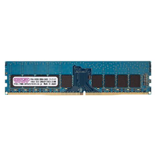 センチュリーマイクロ CK4GX4-D4UE2400H [16GB kit (4GBx4) DDR4-2400 (PC4-19200) ECC Unbuffered DIMM Single RANK 512Mx8]
