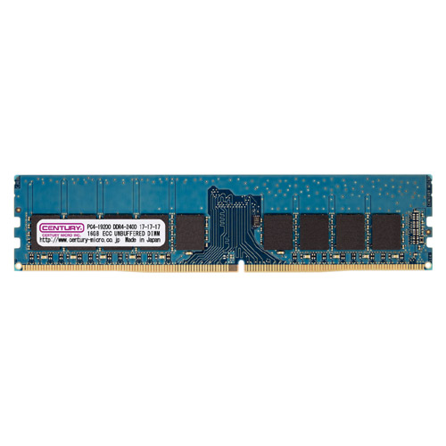 センチュリーマイクロ CK8GX2-D4UE2400H [16GB kit (8GBx2) DDR4-2400 (PC4-19200) ECC Unbuffered DIMM Single RANK 1024Mx8]