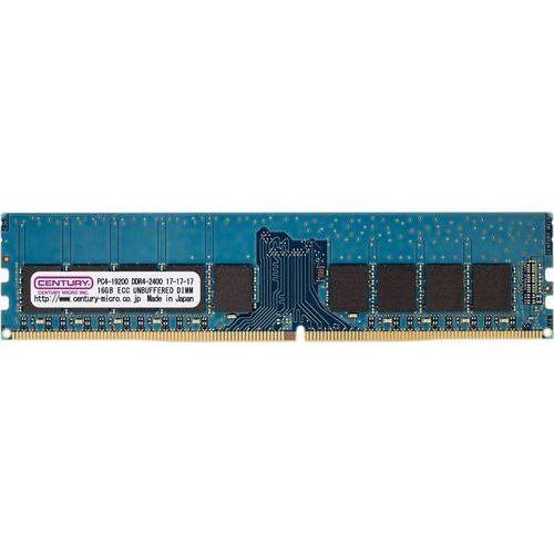 センチュリーマイクロ CK8GX2-D4UE2400 [16GB kit (8GBx2) DDR4-2400 (PC4-19200) ECC Unbuffered DIMM 288pin Dual RANK 512Mx8]