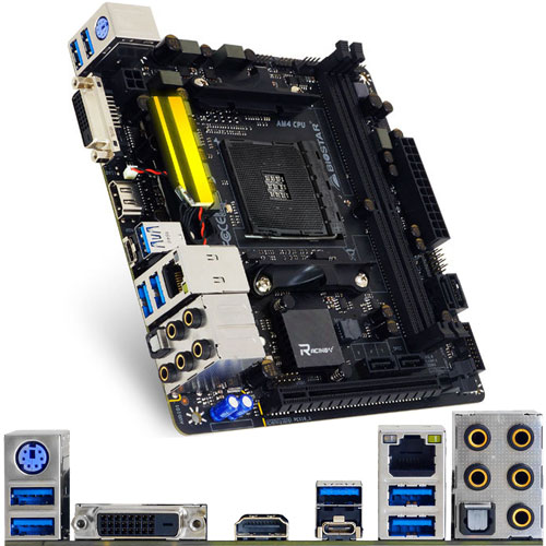 BIOSTAR B350GTN [マザーボード AMD B350/Socket AM4/DDR4/USB 3.1 Type-C/Mini ITX]