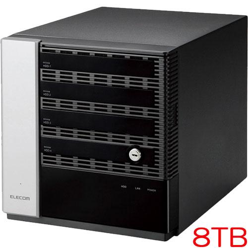 エレコム NSB-75S8T4DS6 [WSS2016 Std搭載NAS/4Bay/Cube型/8TB]
