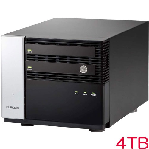エレコム NSB-7MS4T2CW6 [WSS2016 Wg搭載NAS/2Bay/Cube型/4TB]