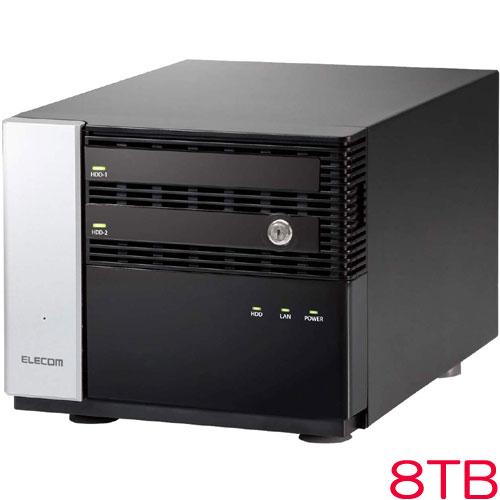 エレコム NSB-7MS8T2CW6 [WSS2016 Wg搭載NAS/2Bay/Cube型/8TB]
