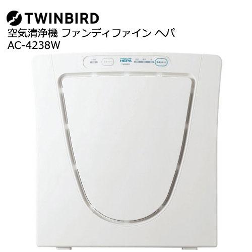 ツインバード AC-4238W [空気清浄機 ファンディファイン ヘパ]
