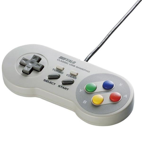 バッファローコクヨサプライ BSGP810GY [レトロ調 USBゲームパッド 8ボタン SFCタイプ グレー]