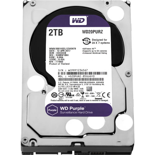 WD20PURZ [WD Purple(2TB 3.5インチ SATA 6G 5400rpm 64MB)]