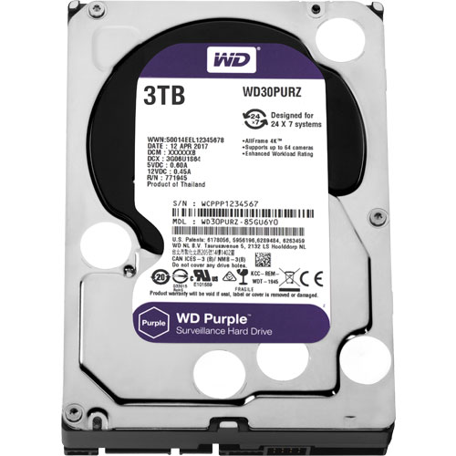 WD30PURZ [WD Purple(3TB 3.5インチ SATA 6G 5400rpm 64MB)]