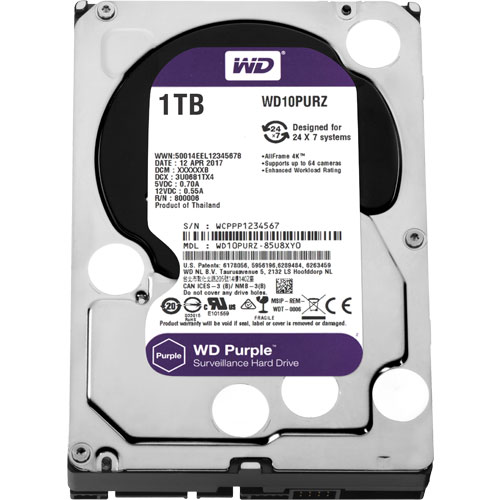 WD10PURZ [WD Purple(1TB 3.5インチ SATA 6G 5400rpm 64MB)]