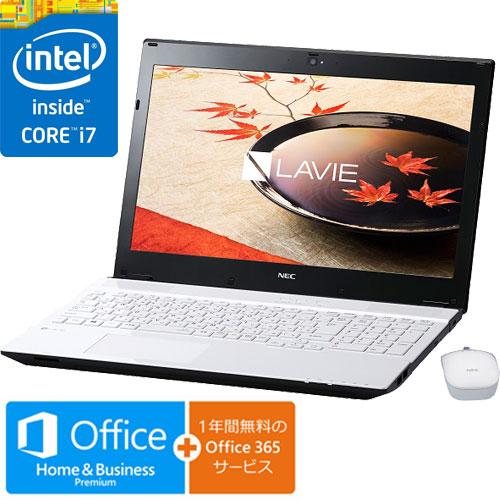 NEC PC-SN276FSA9-2 [LAVIE Smart NS(Core i7-7500U 15.6 4GB 500GB DVD Win10 BTM H&B ホワイト)]