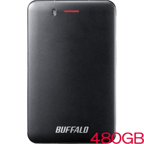 バッファロー SSD-PM480U3A-B [USB3.1(Gen1) 小型ポータブルSSD 480GB ブラック]