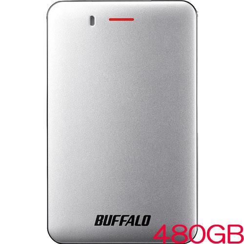 バッファロー SSD-PM480U3A-S [USB3.1(Gen1) 小型ポータブルSSD 480GB シルバー]
