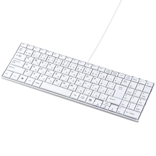 サンワサプライ SKB-SL17WN [USBスリムキーボード(ホワイト)]