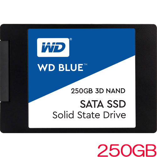 ウエスタンデジタル WDS250G2B0A [WD Blue 3D NAND SATA SSD(250GB 2.5インチ 7mm厚 SATA 6G 5年保証)]