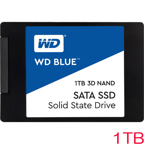 WDS100T2B0A [WD Blue 3D NAND SATA SSD(1TB 2.5インチ 7mm厚 SATA 6G 5年保証)]