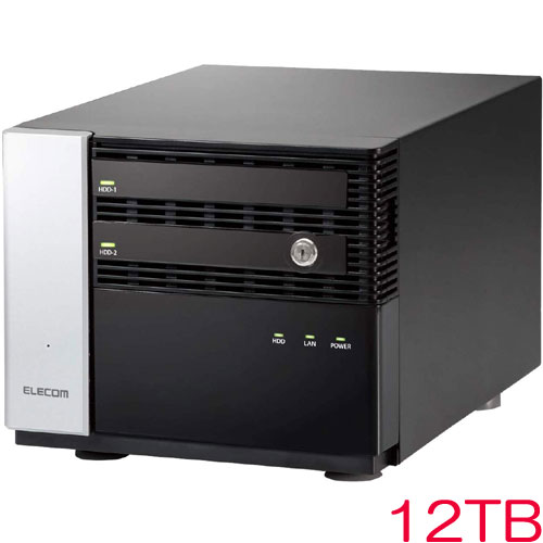 エレコム NSB-7MS12T2CS6 [WSS2016 Std搭載NAS/2Bay/Cube型/12TB]