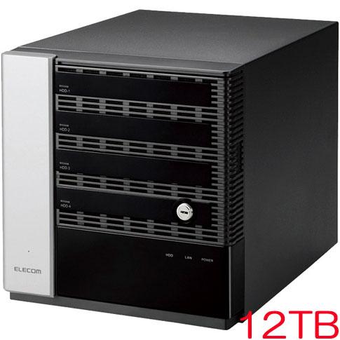 エレコム NSB-75S12T4DW6 [WSS2016 Wg搭載NAS/4Bay/Cube型/12TB]