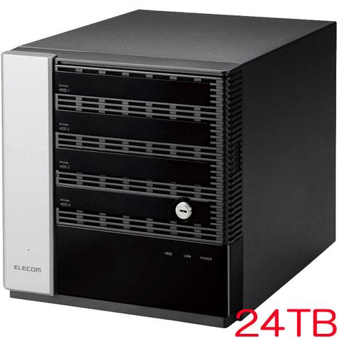エレコム NSB-75S24T4DW6 [WSS2016 Wkg搭載NAS/4Bay/Cube型/24TB]