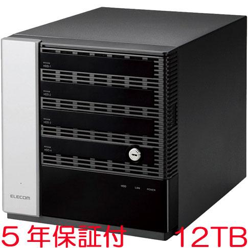 エレコム NSB-75S12T4DW65 [WSS2016 Wg搭載NAS/4Bay/Cube型/12TB]