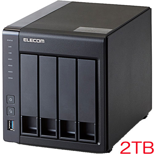 エレコム NSB-7A2T4BL [LinuxNAS/4Bay/2ドライブ/2TB/NetStor7シリーズ]
