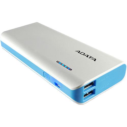 ADATA APT100-10000M-5V-CWHBL [モバイルバッテリ Power Bank PT100 10000mAh LEDライト搭載 ホワイト/ブルー]
