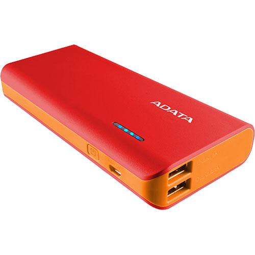 APT100-10000M-5V-CRDOR [モバイルバッテリ Power Bank PT100 10000mAh LEDライト搭載 レッド/オレンジ]