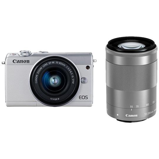 EOS M100(ホワイト) ダブルズームキット