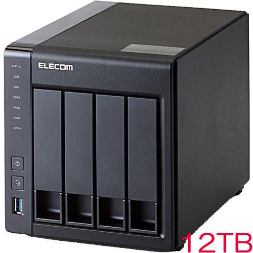 エレコム NSB-5A12T4BL [LinuxNAS/4Bay/12TB/NetStor5シリーズ]